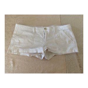 Hollister White Mini Shorts